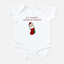 Auntie's Christmas Present Infant Bodysuit
