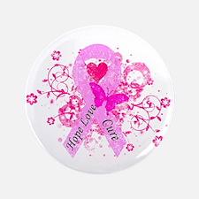 "Vintage Pink Ribbon 3.5"" Button (100 pack)"