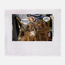Dogs Caption no 2 Throw Blanket