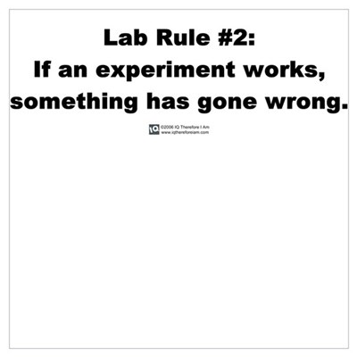 Lab Rule #2 Framed Print