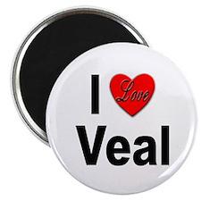 """I Love Veal 2.25"""" Magnet (10 pack)"""