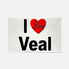 I Love Veal Rectangle Magnet