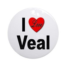 I Love Veal Ornament (Round)