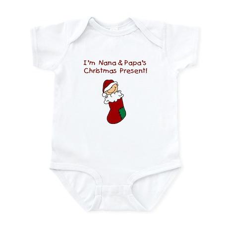 Nana and Papa's Christmas Present Infant Bodysuit