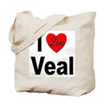 I Love Veal Tote Bag