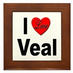 I Love Veal Framed Tile