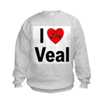 I Love Veal (Front) Kids Sweatshirt