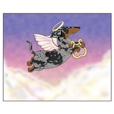 Silver Dapple Dachshund Angel Framed Print