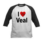 I Love Veal Kids Baseball Jersey