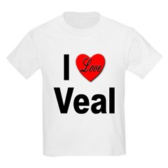 I Love Veal (Front) Kids T-Shirt
