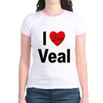 I Love Veal (Front) Jr. Ringer T-Shirt