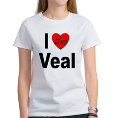 I Love Veal (Front) Women's T-Shirt