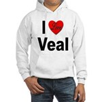 I Love Veal (Front) Hooded Sweatshirt