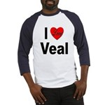 I Love Veal (Front) Baseball Jersey