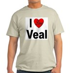 I Love Veal (Front) Ash Grey T-Shirt