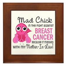 Mad Chick 2 Breast Cancer Framed Tile