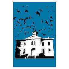 the birds (dark blue) Poster