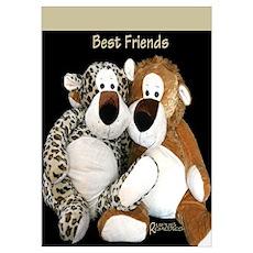 Leopard Best Friends Poster