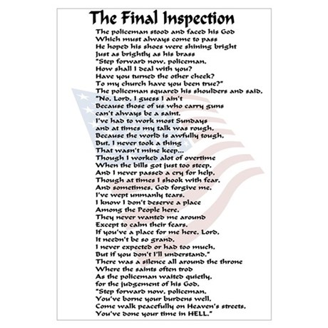 Police Poems  The Final Inspection
