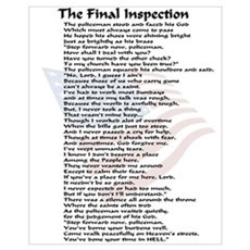 Policeman Final Inspection Framed Print