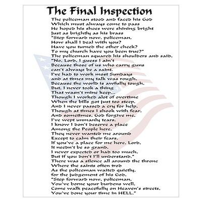 Policeman Final Inspection Framed Print