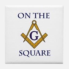 On the Square Tile Drink Coaster