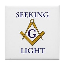 Seeking Light Tile Drink Coaster