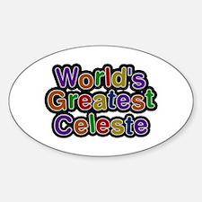 World's Greatest Celeste Oval Decal