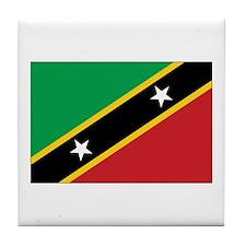 St. Kitts and Nevis Flag Tile Coaster