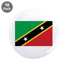 "St. Kitts and Nevis Flag 3.5"" Button (10 pack)"
