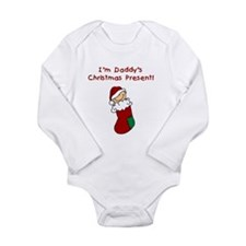 Daddy's Christmas Present Long Sleeve Infant Bodys