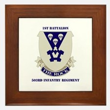 DUI - 1st Bn - 503rd Infantry Regt with Text Frame