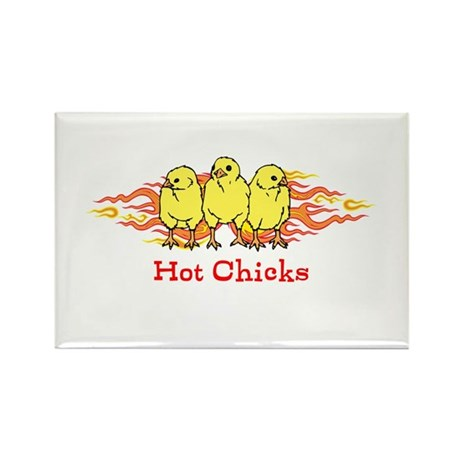 Hot Chicks Rectangle Magnet (100 pack)