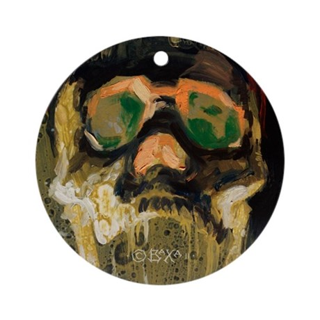 Screaming White Fungus Skull ornament by BAXA