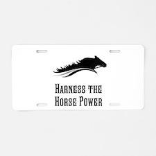 Horse Power Aluminum License Plate