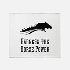 Horse Power Throw Blanket