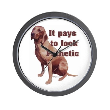pathetic redbone coonhound Wall Clock