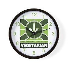 Vegetarian Flag Wall Clock