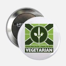 "Vegetarian Flag 2.25"" Button"
