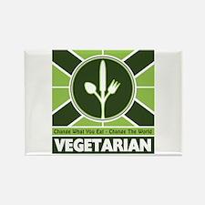 Vegetarian Flag Rectangle Magnet (10 pack)