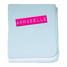 Annabelle Punchtape baby blanket