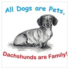 Dachshund Dachshunds Family Poster
