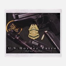 Border Patrol Print Throw Blanket