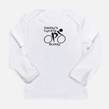 Daddy's Cycling Buddy Long Sleeve Infant T-Shirt
