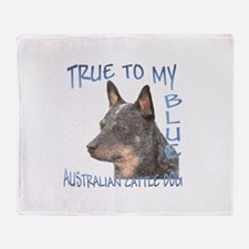 True To My Blue Throw Blanket