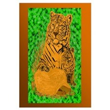 Unique Kids drawing of tiger Wall Art