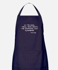 'Big Lebowski Quote' Apron (dark)