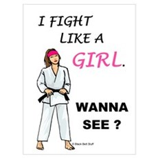 Fight Like A Girl Framed Print