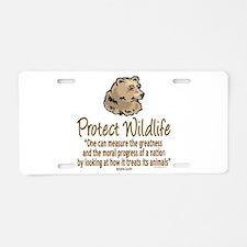 Protect Bears Aluminum License Plate