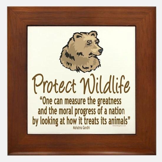 Protect Bears Framed Tile